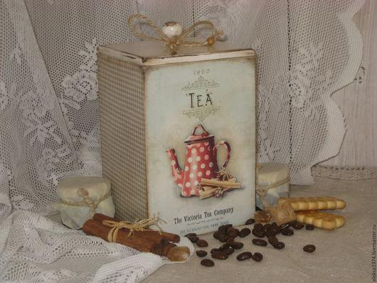 """Кухня ручной работы. Ярмарка Мастеров - ручная работа. Купить Короб для кухни """" Чай & кофе """". Handmade."""