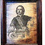 Картины и панно ручной работы. Ярмарка Мастеров - ручная работа портрет Петр 1. Handmade.