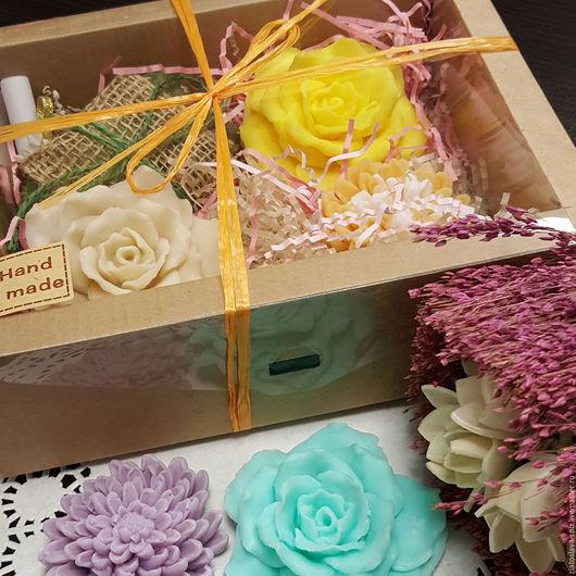 Мыло ручной работы. Ярмарка Мастеров - ручная работа. Купить Цветущий сад бол. (набор мыла подарочный). Handmade. Желтый