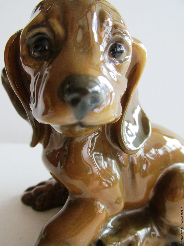 ROSENTHAL Rosenthal DOG. The PUPPY DACHSHUND GERMANY Porcelain, Vintage interior, Prague,  Фото №1