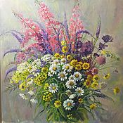 Картины и панно handmade. Livemaster - original item Picture . Wildflowers . oil on canvas on cardboard 60/60.. Handmade.