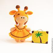 Куклы и игрушки ручной работы. Ярмарка Мастеров - ручная работа Вязаная кукла Жираф (Желтый Африка). Handmade.