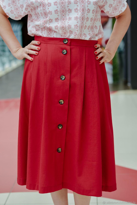 The skirt of the Belarusian red flax, Tatiana, Skirts, Kursk,  Фото №1