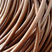 Материалы для творчества ручной работы. Ярмарка Мастеров - ручная работа Шнур кожаный 5,0 мм. Handmade.