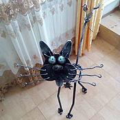 Для дома и интерьера ручной работы. Ярмарка Мастеров - ручная работа кот c яйцами подставка для цветов кашпо цветочница кованый. Handmade.