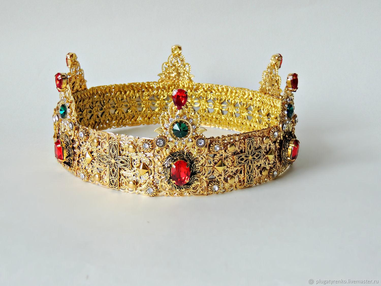 Корона мужская  - Gold Queen, Браслет для шармов, Калач,  Фото №1