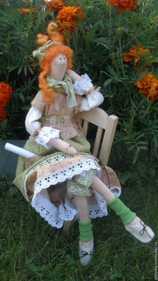 Куклы Тильды ручной работы. Ярмарка Мастеров - ручная работа. Купить кукла тильда Художница Аделаида. Handmade. Зеленый