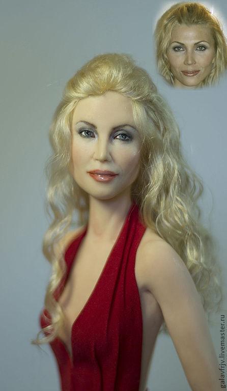 Портретные куклы ручной работы. Ярмарка Мастеров - ручная работа. Купить модель. Handmade. Ярко-красный, фимо