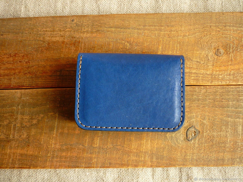 Кардхолдер синий в джинсовом стиле, Визитницы, Челябинск,  Фото №1