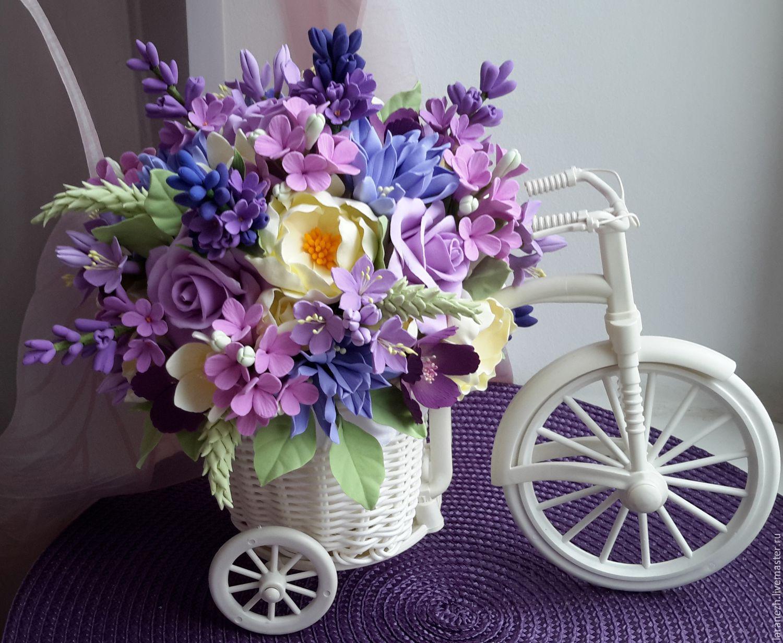 цветы на велосипеде фото