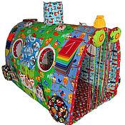 """Куклы и игрушки ручной работы. Ярмарка Мастеров - ручная работа Развивающая игрушка Чудо-Поезд """"Весёлый зоопарк""""-2. Handmade."""