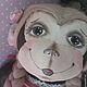 Игрушки животные, ручной работы. текстильная обезьянка. Панченко Наталья (proekt1000). Интернет-магазин Ярмарка Мастеров. Обезьянка, шерсть для валяния