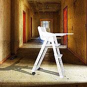Для дома и интерьера ручной работы. Ярмарка Мастеров - ручная работа Детский стульчик для кормления и занятий со столиком. Handmade.