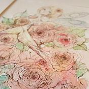 Картины и панно ручной работы. Ярмарка Мастеров - ручная работа Птички на счастье 1. Handmade.