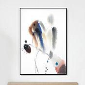 Картины и панно ручной работы. Ярмарка Мастеров - ручная работа Апрель. Акварель, печать.. Handmade.