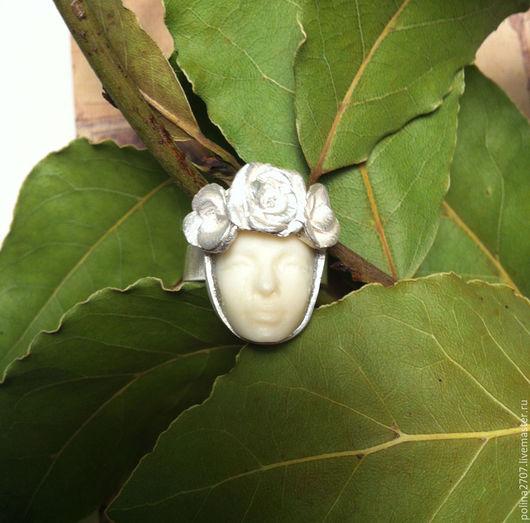 """Кольца ручной работы. Ярмарка Мастеров - ручная работа. Купить кольцо """"Флоренция"""".. Handmade. Кольцо серебро, белый, кольцо, кость"""