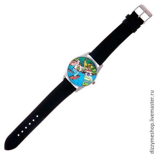 """Часы ручной работы. Ярмарка Мастеров - ручная работа. Купить Часы наручные """"Тунис"""". Handmade. Синий, дизайнерский принт, тунис"""