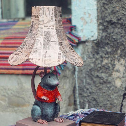 Освещение ручной работы. Ярмарка Мастеров - ручная работа. Купить Лампа настольная Крыска. Handmade. Рыжий, крыска, лампа настольная