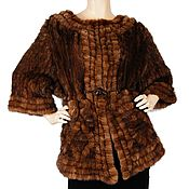 Одежда ручной работы. Ярмарка Мастеров - ручная работа Плетеный жакет из меха норки. Handmade.