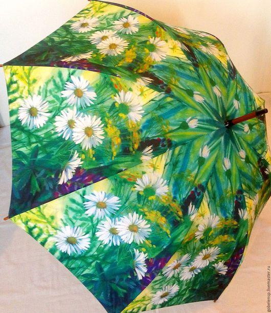 Зонты ручной работы. Ярмарка Мастеров - ручная работа. Купить РОМАШКИ авторский зонтик. Handmade. Оригинальный подарок, подарок женщине