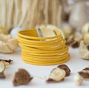 Украшения handmade. Livemaster - original item Striking bracelet cord suede mustard Summer evening. Handmade.