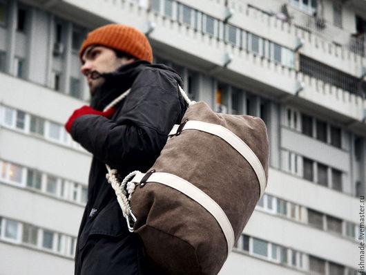Мужские сумки ручной работы. Ярмарка Мастеров - ручная работа. Купить Duffel bag (сумка-трансформер). Handmade. Коричневый