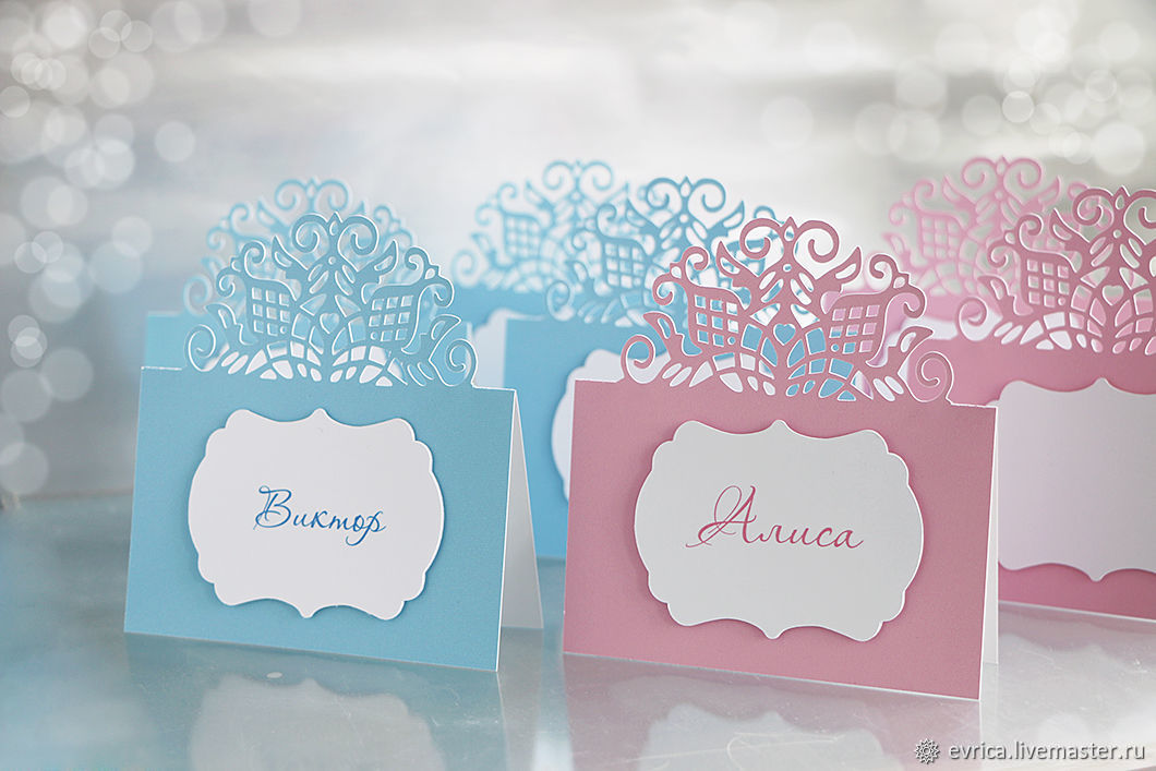 'Elegy' place cards, Card, Moscow,  Фото №1