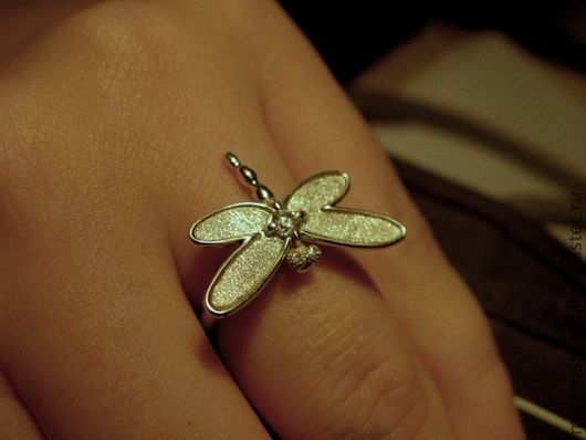 """Кольца ручной работы. Ярмарка Мастеров - ручная работа. Купить Кольцо """"Стрекоза"""". Handmade. Стрекоза, серебряное кольцо"""
