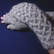 Аксессуары handmade. Livemaster - original item Women`s knitted fingerless gloves Celtic Labyrinth. Handmade.
