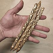 Русский стиль handmade. Livemaster - original item Wooden writing pens 3 pieces. ethno style. Souvenir. Handmade.