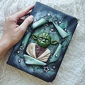 Канцелярские товары handmade. Livemaster - original item Notebook based on Star Wars master Yoda. Handmade.