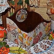 Для дома и интерьера ручной работы. Ярмарка Мастеров - ручная работа Осень золотая  - короб для хранения. Handmade.