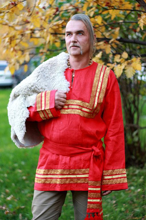 Этническая одежда ручной работы. Ярмарка Мастеров - ручная работа. Купить Свадебная рубаха. Handmade. Ярко-красный, русская рубаха