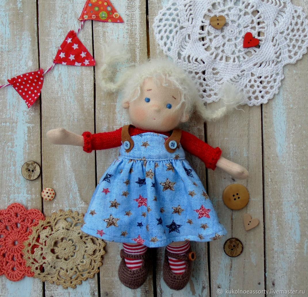 Вальдорфская кукла: Маруся 23 см, Вальдорфские куклы и звери, Североуральск,  Фото №1