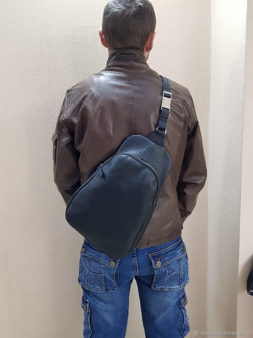 Рюкзак на одно плечо из натуральной кожи, Рюкзаки, Санкт-Петербург,  Фото №1