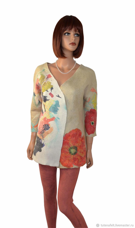 Elegant felted cardigan jacket made of wool ' Amour', Cardigans, Mulhouse,  Фото №1