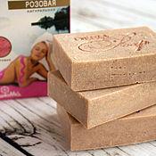 Косметика ручной работы. Ярмарка Мастеров - ручная работа SPA-мыло соляное с розовой глиной для сухой кожи. Handmade.