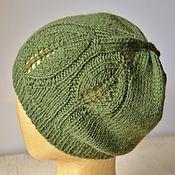 Аксессуары handmade. Livemaster - original item Cap with openwork leaves. Handmade.
