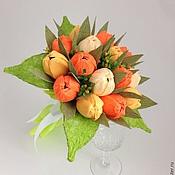 """Цветы и флористика ручной работы. Ярмарка Мастеров - ручная работа Букет из конфет """"Оранж"""". Handmade."""