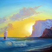 Картины и панно ручной работы. Ярмарка Мастеров - ручная работа вечернее море. Handmade.