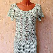 """Одежда ручной работы. Ярмарка Мастеров - ручная работа платье крючком """"мятная нежность"""". Handmade."""