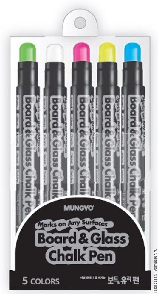 """Другие виды рукоделия ручной работы. Ярмарка Мастеров - ручная работа. Купить Маркеры меловые """"Chalk Pen"""" MUNGYO 5 шт. Handmade."""