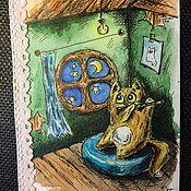 """Открытки ручной работы. Ярмарка Мастеров - ручная работа Авторская открытка ручной работы """"Ночная флейта"""".. Handmade."""