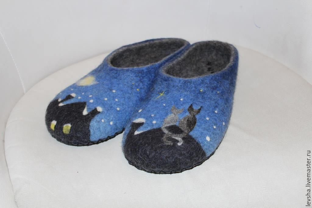 Felted Slippers, size 43 (28 cm)