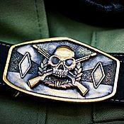 Аксессуары handmade. Livemaster - original item Leather belt with molded buckle