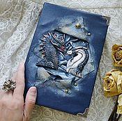 Канцелярские товары ручной работы. Ярмарка Мастеров - ручная работа Блокнот с драконами. Handmade.