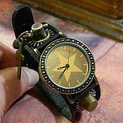 handmade. Livemaster - original item STEAMPUNK STAR QUARTZ WRIST WATCH. Handmade.