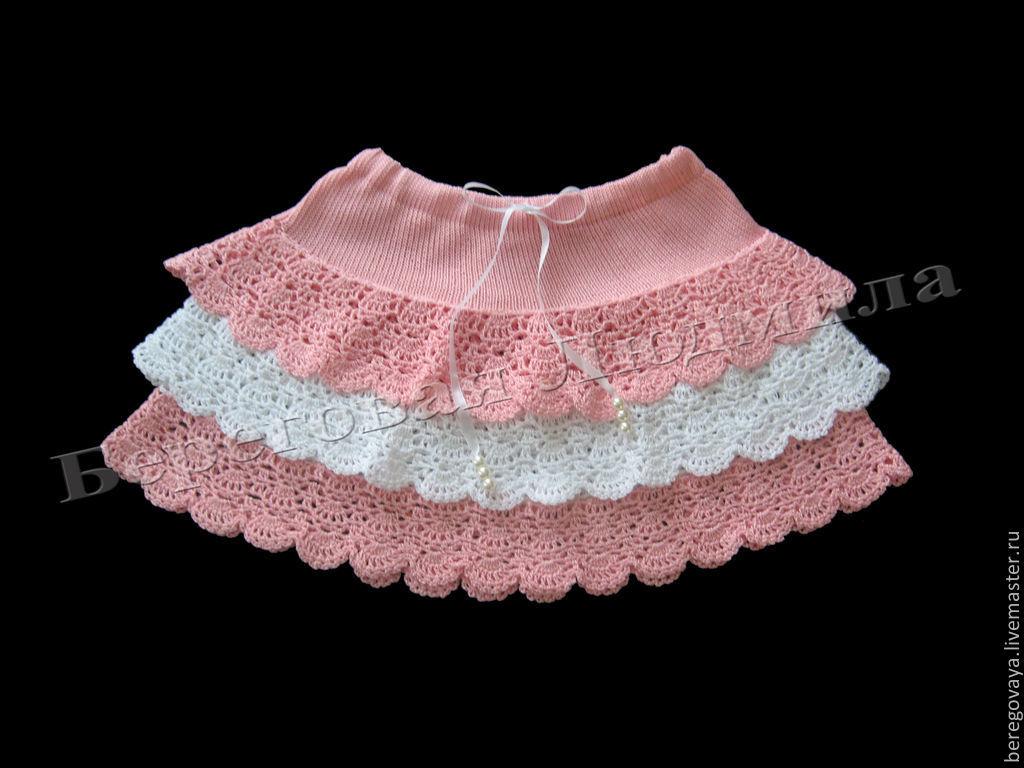 Как связать пышную юбку для девочки