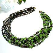 Украшения handmade. Livemaster - original item Necklace with rauchtopaz and chrysolite. Handmade.