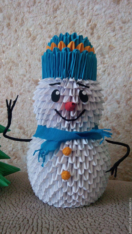 Оригами снеговика 160